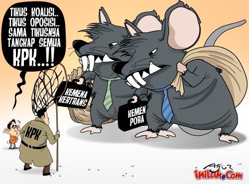 Monster Bego: Kartun Lucu Korupsi (koruptor makin sulit