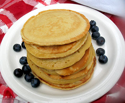 Chickpea Flour Breakfast Pancakes