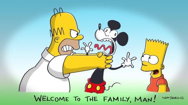 Los Simpsons predijeron compra de Fox por Disney
