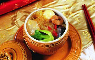 Steamed abalone with shark fin and fish maw