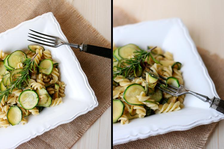 Kochkarussell: Nudeln mit Zucchini-Ziegenkäse-Sauce