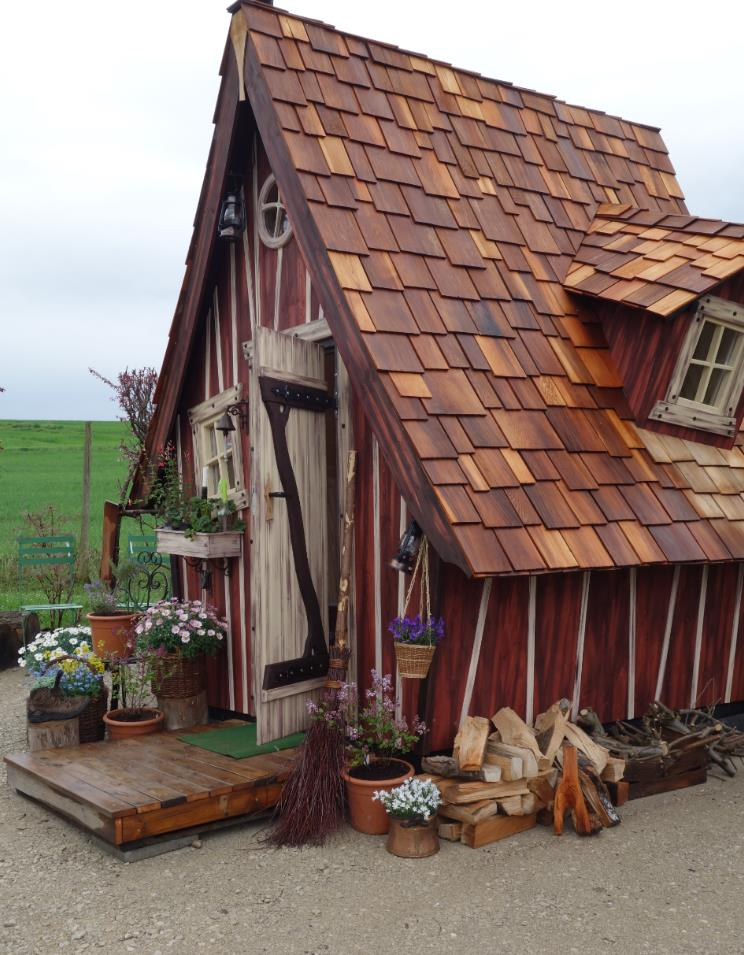 Hexenhäuschen Gartenhaus meiselbach mobilheime hexenhaus wer montiert
