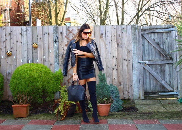 BLACK CHIC  : EGO OVER THE KNEE BOOTS