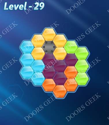 Block! Hexa Puzzle [5 Mania] Level 29 Solution, Cheats, Walkthrough for android, iphone, ipad, ipod