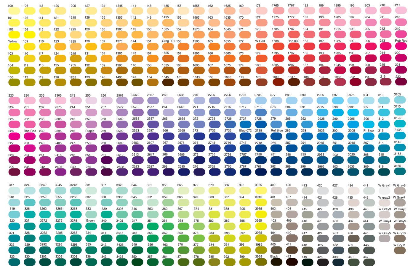 Pantone Color Chart, All Colors   moderndesigninterior.com