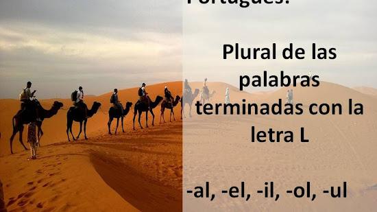 Plurales en portugués: palabras terminadas en -al, -el, -il, -ol, -ul