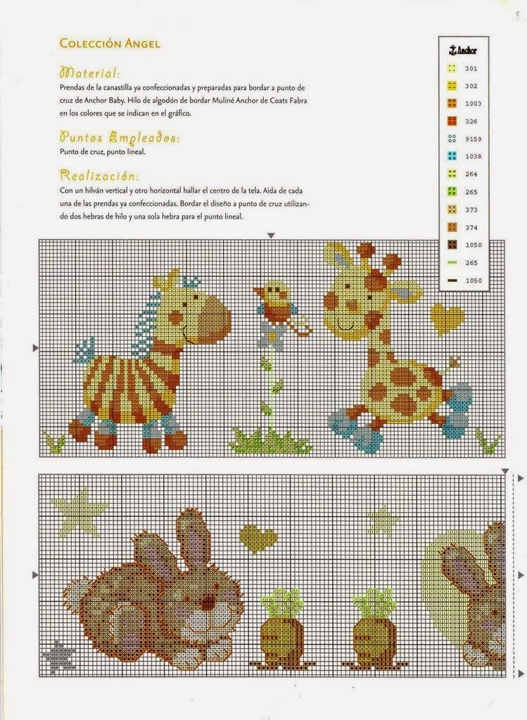 Hobby lavori femminili ricamo uncinetto maglia for Giraffa punto croce