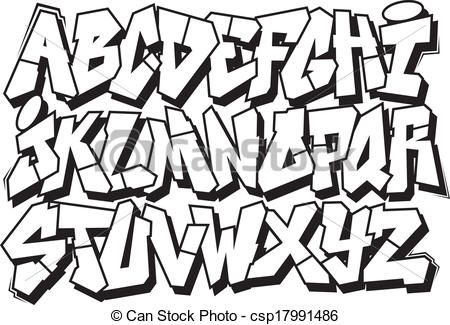 graffiti letters fonts