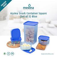 Dusdusan Azalea Snack Container Square (Set of 5) Blue ANDHIMIND