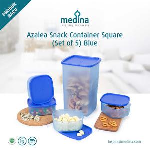 Azalea Snack Container Square (Set of 5) Blue