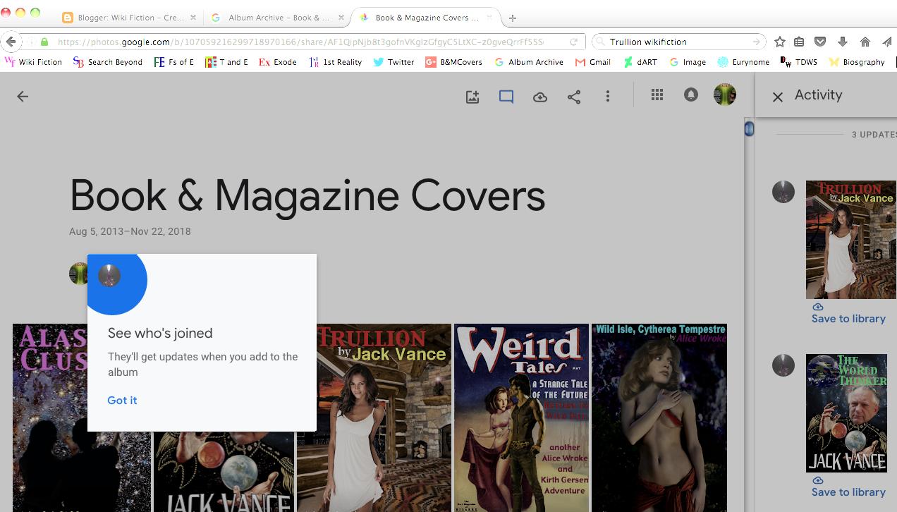 Wiki Fiction: Album Archives