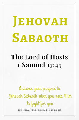 Jehovah Sabaoth is from 1 Samuel 17:45 and it meansmThe Lord of Hosts
