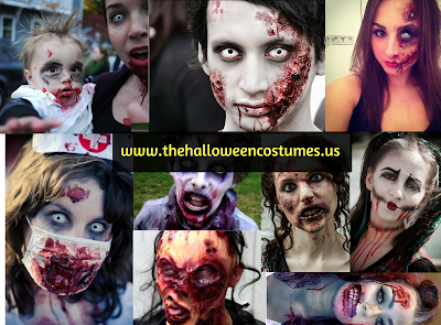 Halloween Zombie Costumes Make Up Ideas in 2016