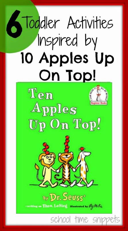 10 Apples on Top Toddler Activities