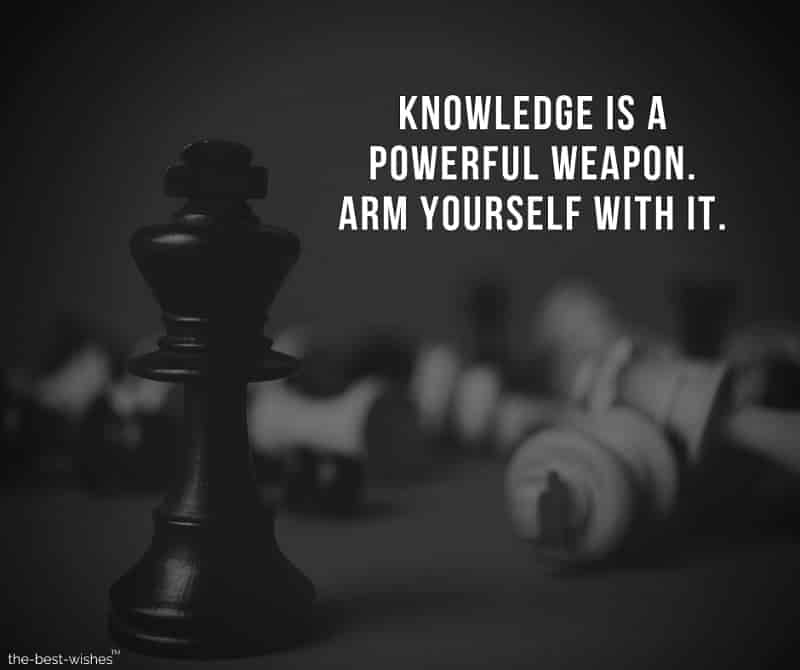 Positive Inspirational Quote on Knowledge Image