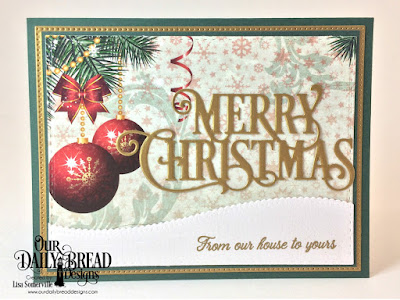 Our Daily Bread Designs Stamp Set: We've Moved, Custom Dies: Merry Christmas Caps, Leafy Edged Borders, Pierced Rectangles, Double Stitched Rectangles, Paper Collection: Christmas 2017