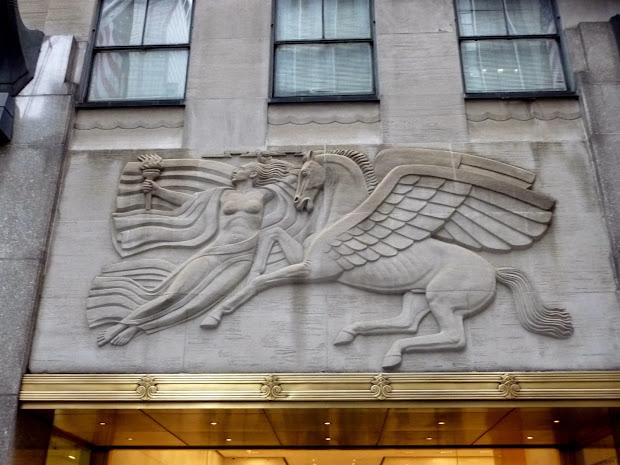 Art Deco Bas-relief Morning Present Evening
