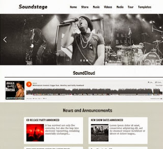 Soundstage Free Blogger Templates