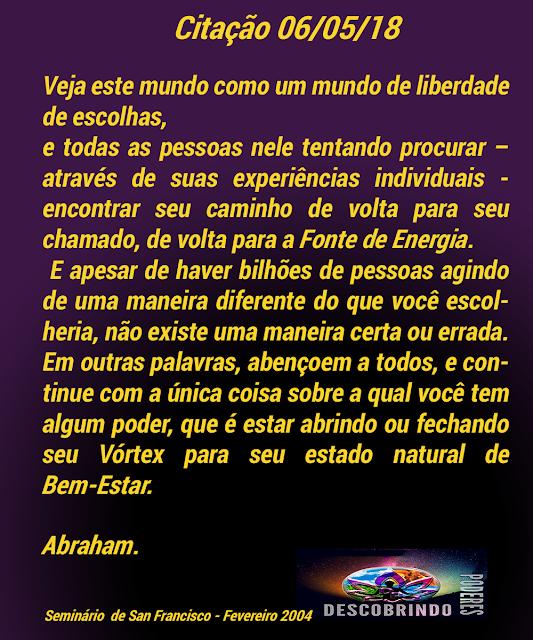 Citação Diária Abraham Hicks - Citação do Dia 08/06/2018