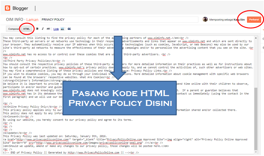 Cara Buat Privacy Policy Dan Disclaimer Di Blog