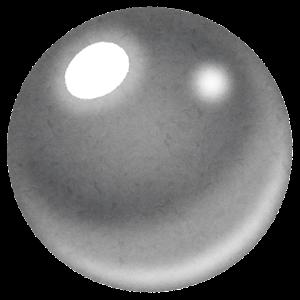 パチンコ玉のイラスト