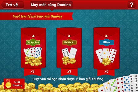 Sự kiện may mắn cùng Domino