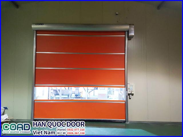 Cửa cuốn tốc độ cao, cửa cuốn nhanh, cửa đóng mở nhanh, cửa màn nhựa pvc, COAD