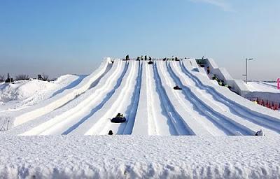 Tobogã de neve em Tsu Dome