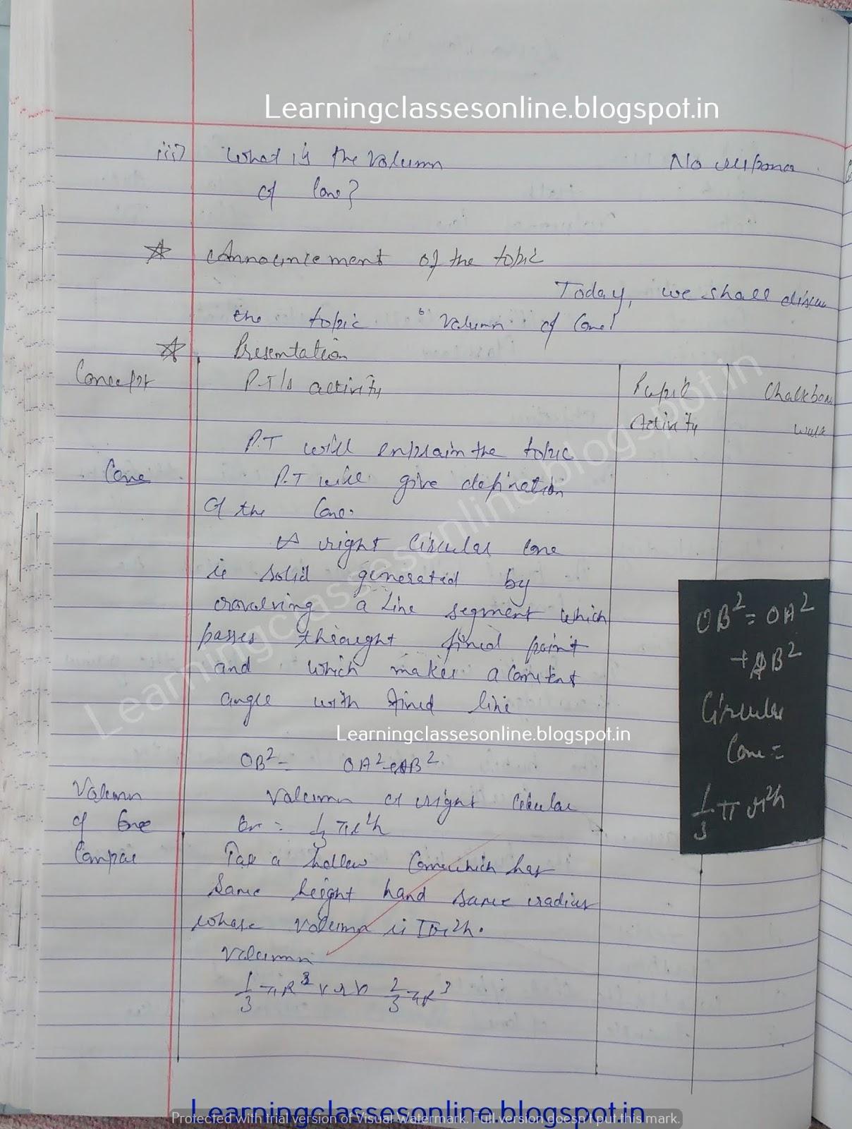 Lesson Plan For Maths Class 10 Cbse,