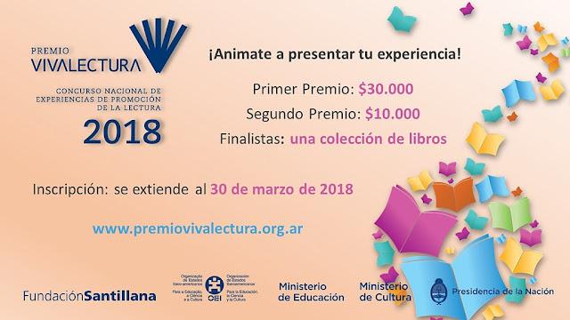 Hasta el 30 de marzo hay tiempo para participar del Premio VIVALECTURA 2018