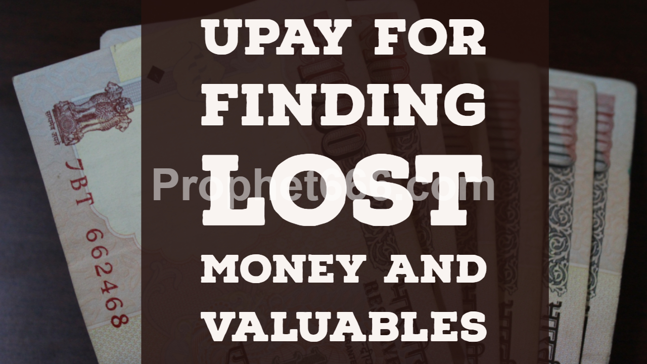 Remedy for Finding Lost Money and Valuables