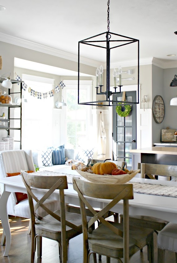 Hadley light from Ballard Designs over table