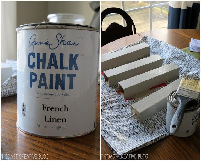 chalk painting the ottoman