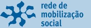 """Banner da Rede de Mobilização Social (mobilizacaosocial.com.br) Descrição da imagem: Em um fundo azul, lê-se """"Rede de Mobilização Social"""". Ao lado, há um desenho representando uma rede."""