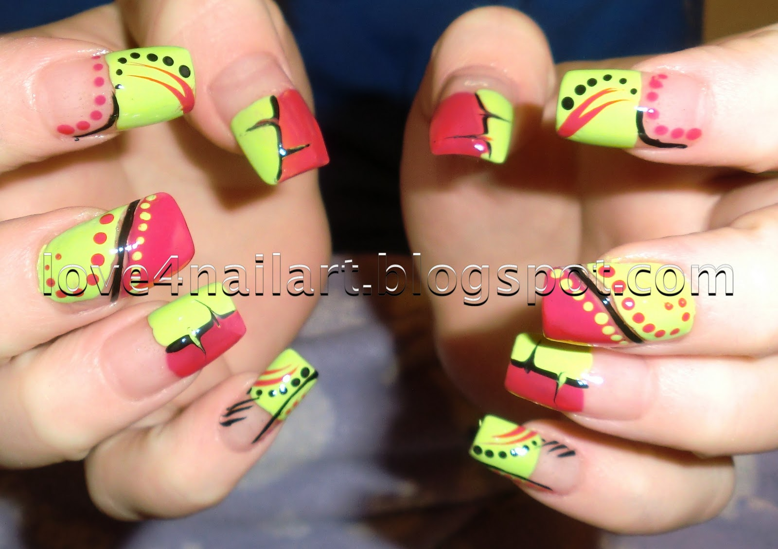 Love4NailArt: Colorful Abstract Nail Art