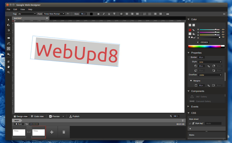Google Web Designer Fedora