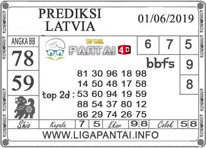 """Prediksi Togel """"LATVIA"""" PANTAI4D 01 JUNI 2019"""