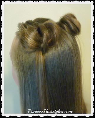 New space buns hair tutorial. No Bobby pins!