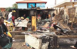 Fire Gutts  Shops, Burns Goods Worth Millions In Lagos