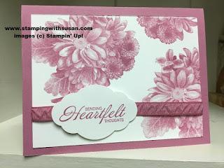 Stampin' Up Heartfelt Blooms Pretty Label Punch Sweet Sugarplum