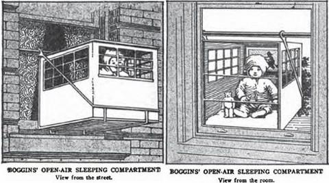 Bebés colgados con jaulas del balcón para que se refresquen