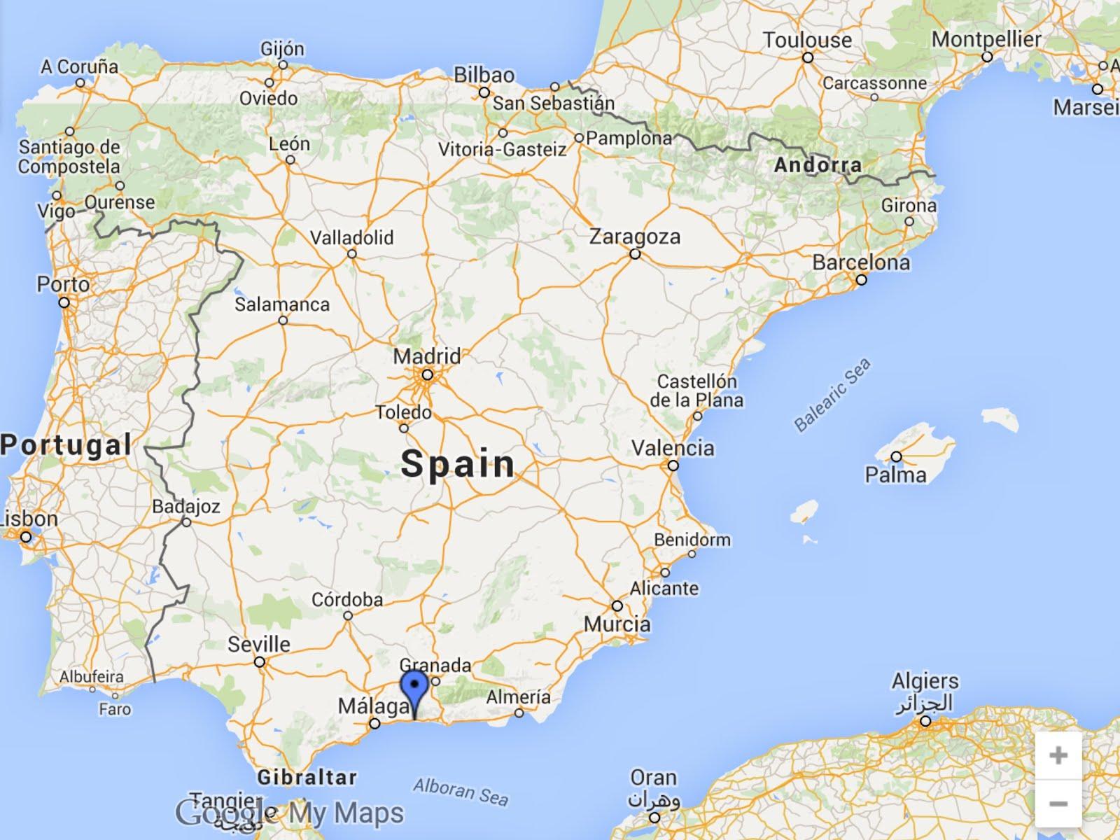 Karta Over Spaniens Vastkust.Alhambra Karta Karta