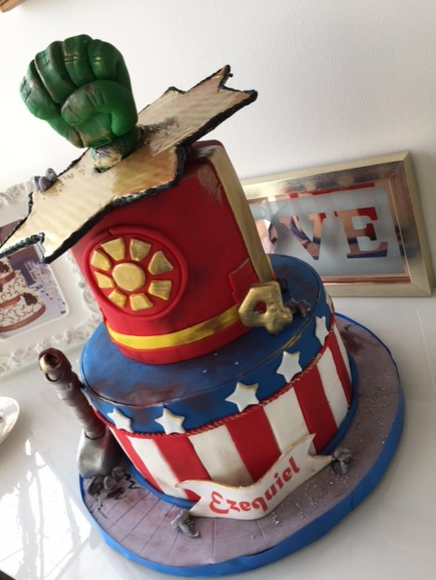 Baking With Roxanas Cakes Superhero Birthday Cake