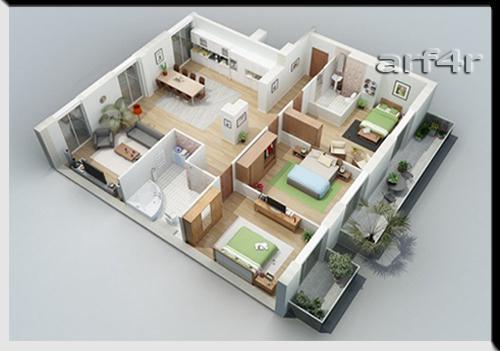 Denah Rumah Minimalis Untuk 3 Kamar