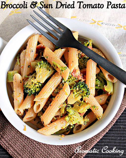 Aromatic Cooking Broccoli And Sun Dried Tomato Pasta