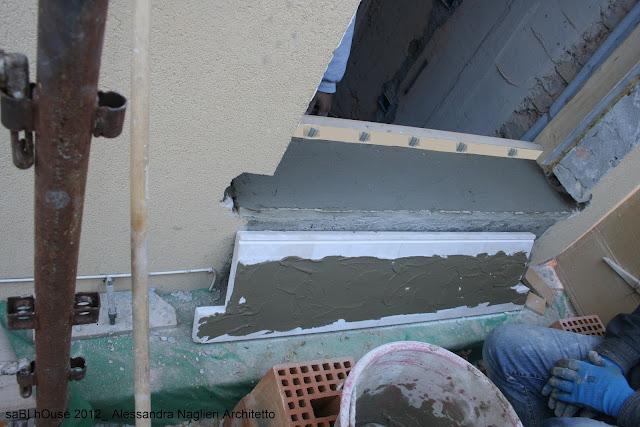 soglia in marmo- guaina contega pv- adesivo kerakoll H40 Eco