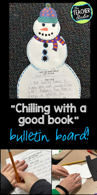 Opinion writing, book review, book project, winter bulletin board, winter craft, winter craftivity, snowman project, creative writing, creative writing activity, third grade, fourth grade, fifth grade, second grade