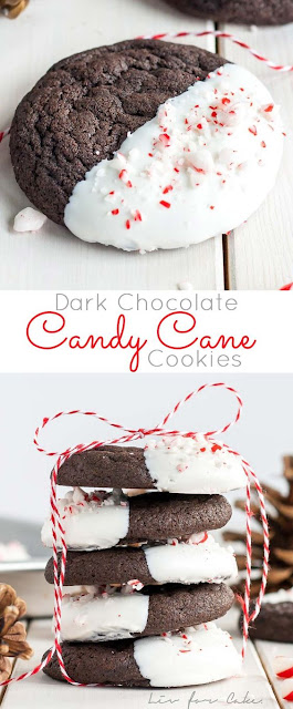 DARK CHOCOLATE CANDY CANE COOKIES