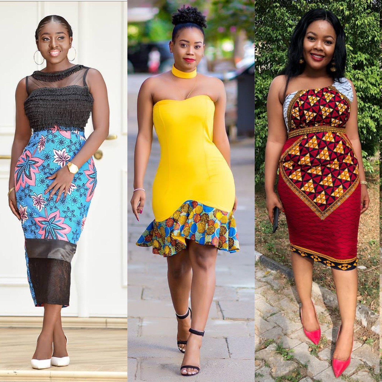 Ladies! See How Gorgeous These Kitenge Short Dresses