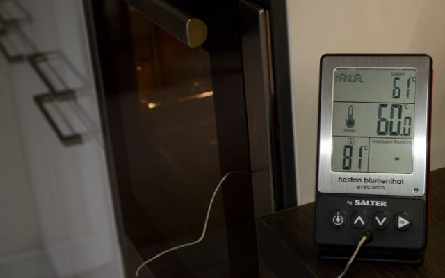 Heston Blumenthal 5 in 1 Digital Thermometer being tested